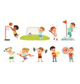 cute little children playing different sports vector image