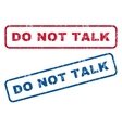 Do Not Talk Rubber Stamps vector image vector image