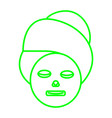 facial masker vector image vector image