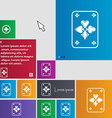 Game cards icon sign buttons Modern interface vector image