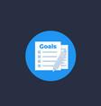 goal setting icon vector image