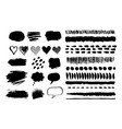 grunge hand drawn elements vector image