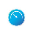 half clock in circle linear icon isolated on vector image vector image