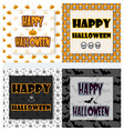 halloween greetings set vector image vector image