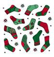 handrawn socks set colorful vector image vector image