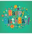 Happy Birthday 6 vector image vector image