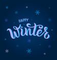 happy winter for calendar invitation poster flyer vector image