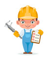 houses inspection professional work clothes vector image
