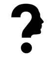 Human face with question mark vector | Price: 1 Credit (USD $1)