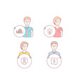 idea security agency and banking money icons vector image vector image