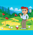 image with golf theme 3 vector image