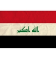 Iraq paper flag vector image vector image