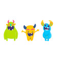 isolated cute cartoon monsters vector image
