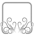 knitting frame decorated with swirls on white vector image vector image