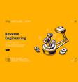 landing page reverse engineering vector image vector image