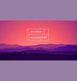 landscape mountain abstract gradient bg vector image vector image