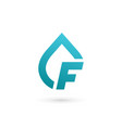 letter f water drop logo icon design template vector image vector image