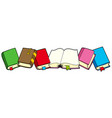 line of books vector image