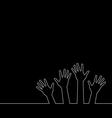 line of hands vector image vector image