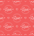 love text pattern seamless valentines background vector image vector image