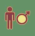 male sign cordovan icon and vector image vector image