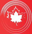 maple leaf silhouette vector image vector image