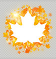 maple leaves white frame with copy space eps 10 vector image vector image