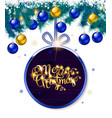 merry christmas cold lettering vector image vector image