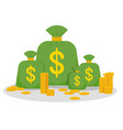 money many bag vector image vector image