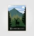 national park wanderlust vintage poster design vector image vector image