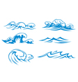 Ocean and sea waves vector image