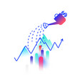 on topic financial income profit and vector image
