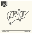 One icon Artificial liver vector image vector image