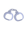 pair of metallic handcuffs cartoon vector image vector image