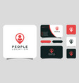 people location logo design and business card vector image