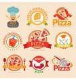 Pizzeria labels set vector image