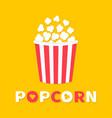 popcorn popping cinema movie night icon big size vector image vector image