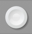 realistic food plates 3d white empty dish vector image vector image