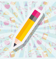 school supplies concept vector image vector image