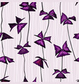 seamless pattern with oxalis triangularis leaves vector image vector image