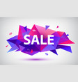 set sale faceted geometric banners vector image vector image