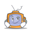 smirking tv character cartoon object vector image vector image