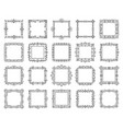 square text frame simple line monogram set vector image vector image