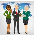 successful mature professional business team vector image