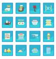 supermarket items icon blue app vector image vector image