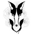 tattoo style fox vector image vector image