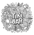 tiki bar hand drawn cartoon doodle vector image vector image
