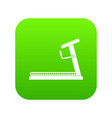 treadmill icon digital green vector image vector image