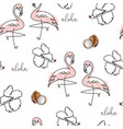 tropical seamless pattern with cute hand drawn vector image vector image