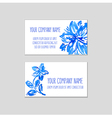 Two business cards watercolor floral background vector image